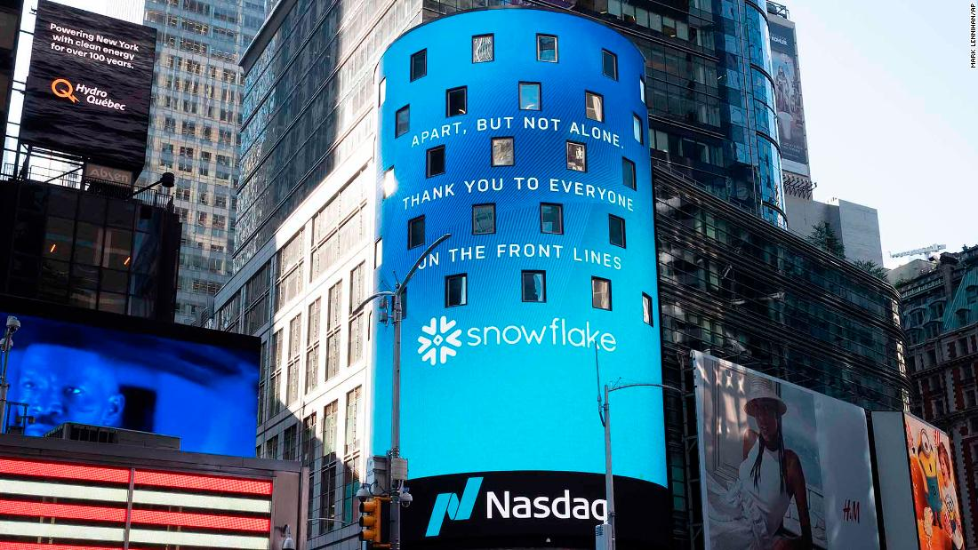 Snowflake shares more than double. It's the biggest software IPO ever – CNN