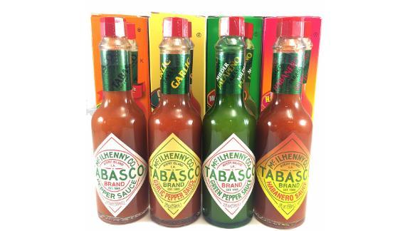 Paquete de 4 variedades de salsa Tabasco