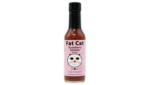 Salsa picante de fresa de gato serrano
