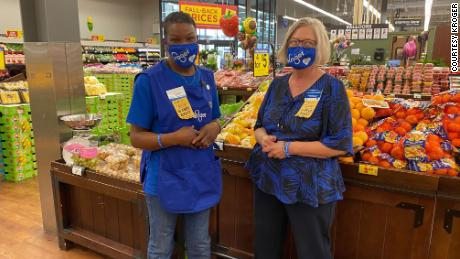 "LaShenda Williams' manager Jackie Vandal helped her throughout the interview process for the Kroger position. ""I wish I had a whole team full of her,"" Vandal says."
