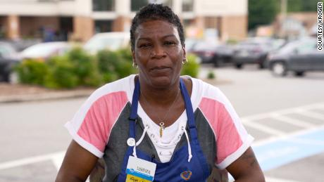 LaShenda Williams now works at the Kroger store whose parking lot once served as an extended bedroom after she was forced to sleep in her car