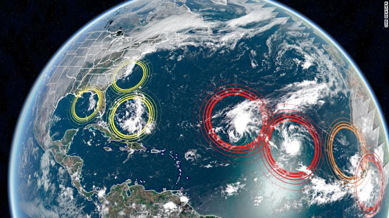Hurricane season peaks today, and the Hurricane Center is watching 7 systems