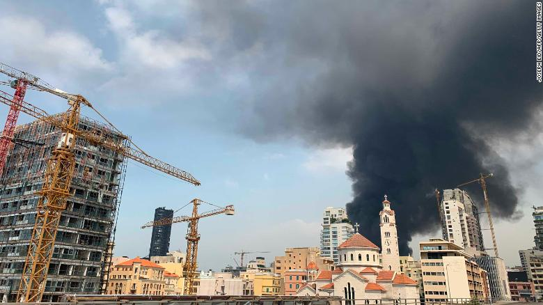 Beirut port ablaze again, weeks after massive blast