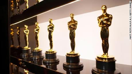 In this handout photo provided by A.M.P.A.S. Oscars statuettes are on display backstage during the 92nd Annual Academy Awards at the Dolby Theatre on February 09, 2020 in Hollywood, California.