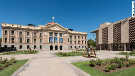 Arizona, whose State Capitol building and House of Representatives are pictured here, uses census population data to distribute state tax revenues.