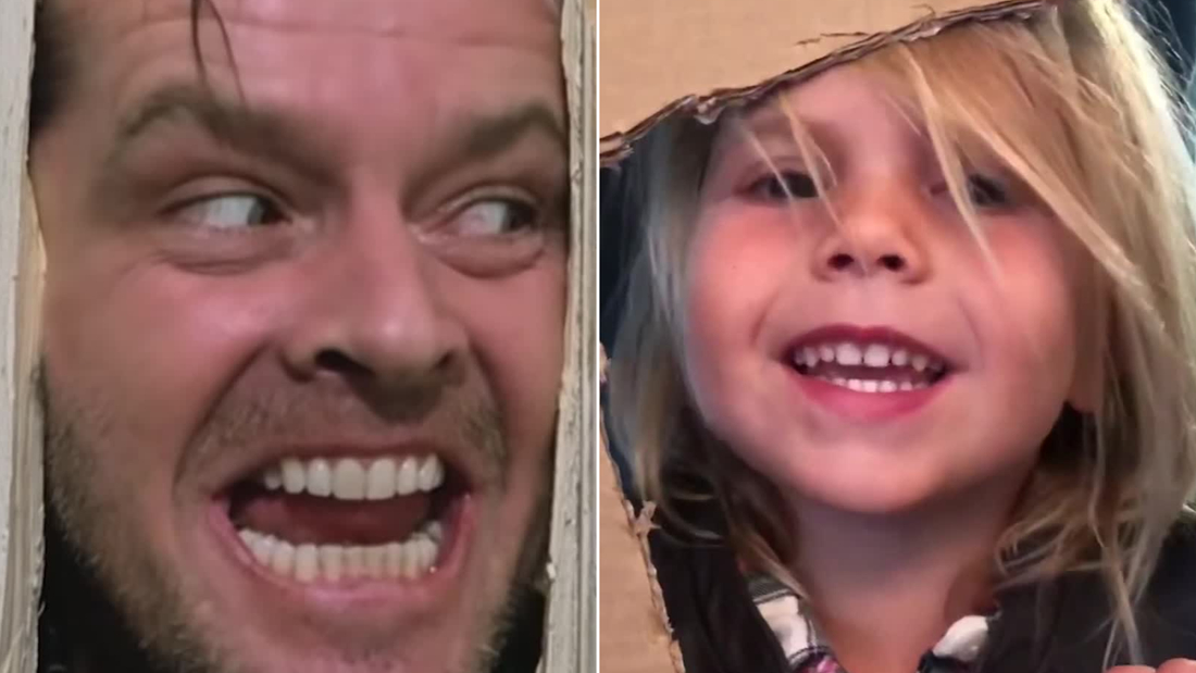 Image for This 4-year-old raised $12,000 for hungry Americans by recreating classic movie scenes with her dad