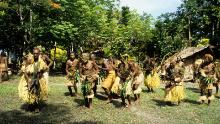 Traditional dances performed in Malaita in 1981.