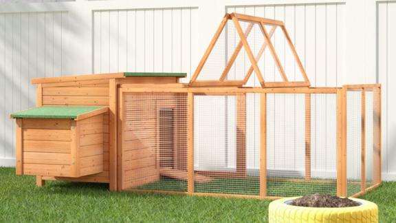 Archie & Oscar Auggie Chicken Coop With Chicken Run