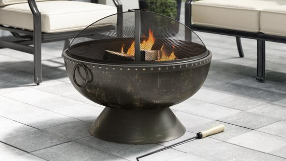 Greyleigh Tuscola Firebowl Steel Wood Burning Fire Pit