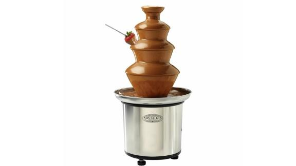 Nostalgia 4-Tier Stainless Steel Chocolate Fondue Fountain