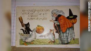 The postcard arrived just in time for Halloween.
