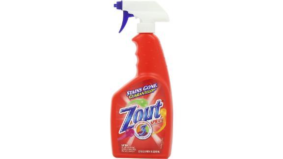Spray removedor de manchas para ropa Zout, fórmula de triple enzima