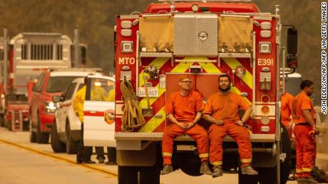 California uses hundreds of inmates each year to bolster its crews that fight wildfires.