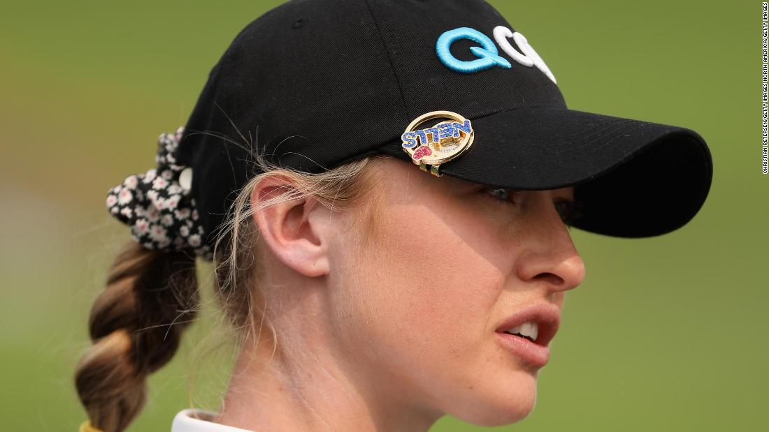 Nelly Korda leads at halfway in pursuit of maiden major title