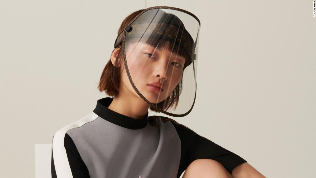 Louis Vuitton is releasing a face shield with golden studs to protect luxury buyers from coronavirus - CNN Style