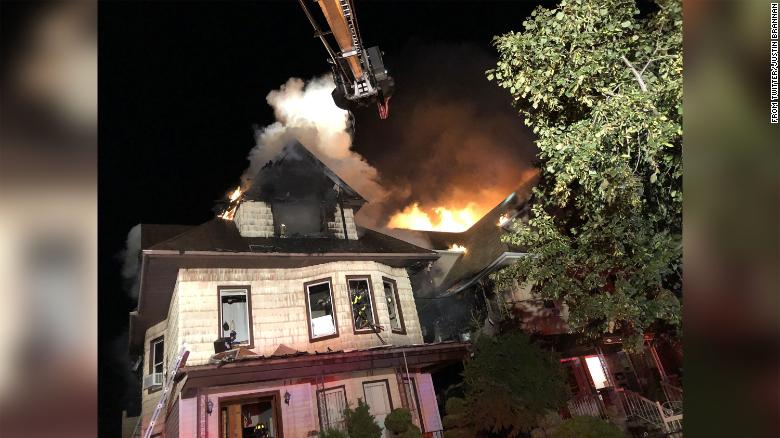 Five-alarm Brooklyn blaze injures 6 firefighters as residents are evacuated