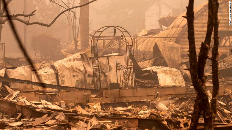 A wildfire evacuee returned to her Oregon home to find her barn destroyed but her animals alive