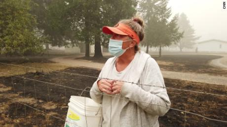 Marion County resident Patti Candell  returned to her home in an evacuation zone.