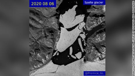 This section of the northeast Greenland ice shelf has disintegrated over the last two years.