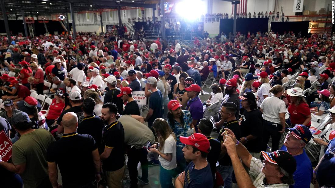 Trump indoor rally site fined $3,000 for violating state coronavirus guidelines