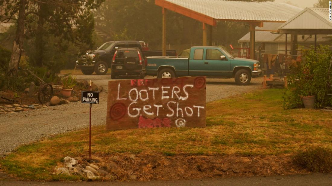 Oregon residents are illegally stopping drivers at gunpoint during wildfire evacuations sheriff says – CNN