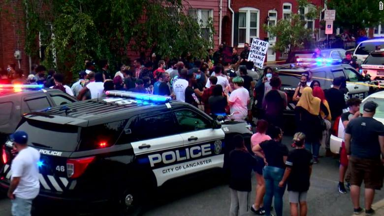 Protests erupt in Lancaster, Pennsylvania, and arrests made after a police officer shot and killed a 27-year-old man