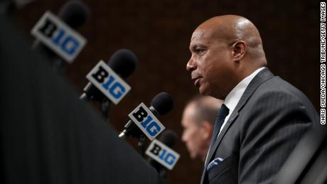 Big Ten commissioner Kevin Warren has faced pressure to resume play.