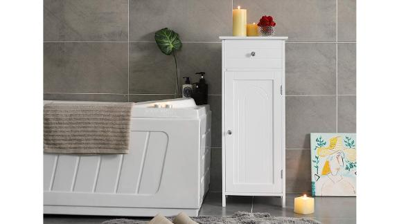 Vasagle Bathroom Floor Cabinet With Drawer and Adjustable Shelf