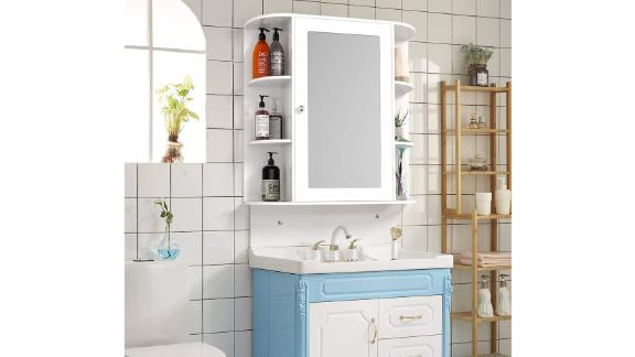 Tangkula Wall-Mounted Medicine Cabinet With Mirror