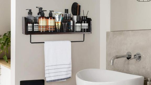 JackCubeDesign Bathroom Shelf With Towel Bar