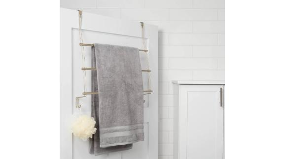Threshold Expandable Over-the-Door Towel Rack