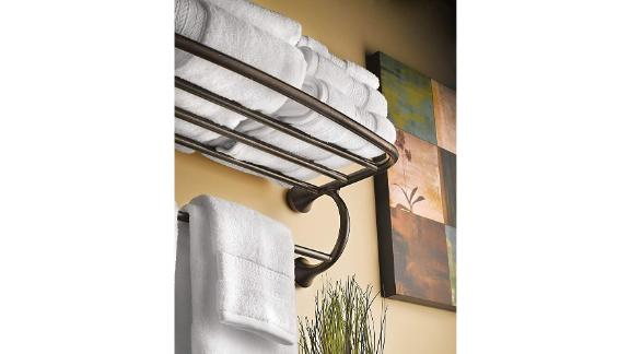 Moen Hotel-Style Towel Shelf With Towel Bar