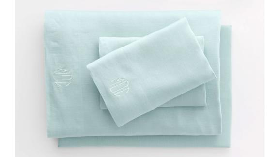 Lands' End Garment Washed Linen Solid Sheets