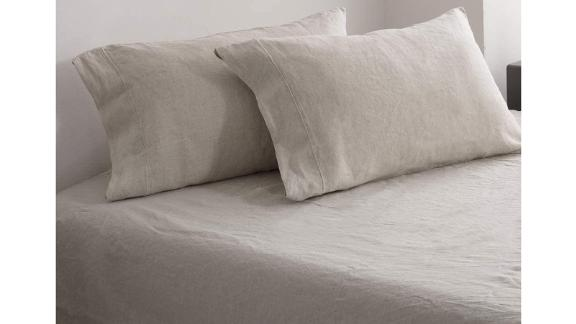 Amazon Simple&Opulence 100% Washed Linen Sheet Set