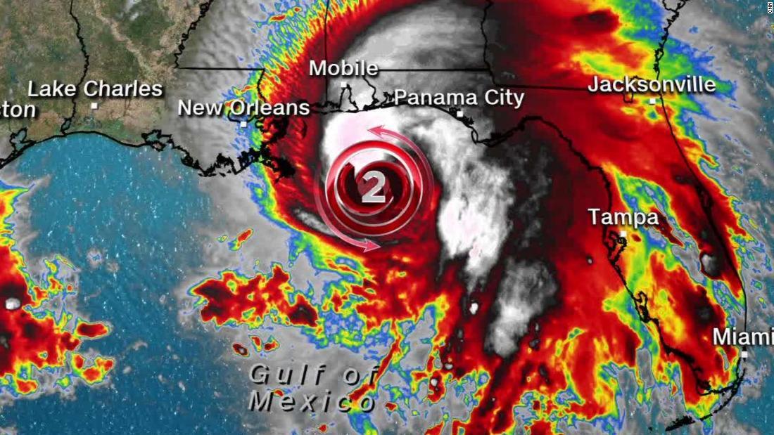 Hurricane Sally upgraded to a Category 2 Hurricane