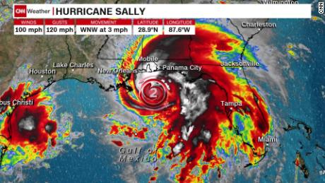 Hurricane Sally is churning off the Gulf Coast.