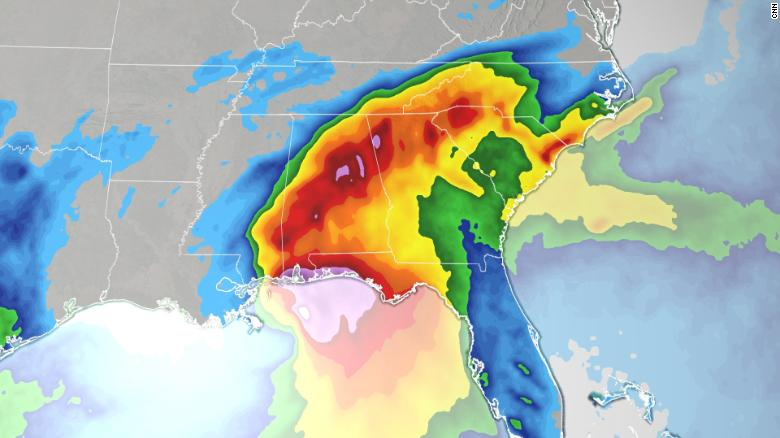 Sally's two biggest threats are inland flooding and storm surge