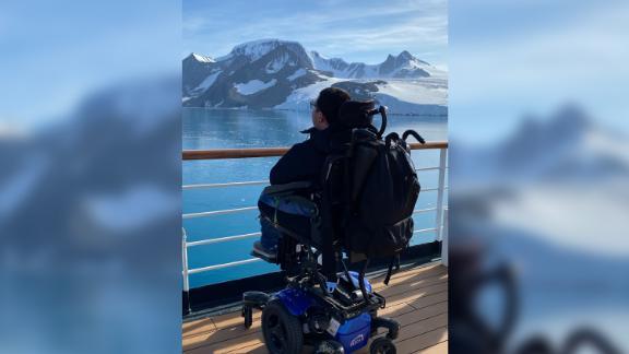 Cory Lee visiting Antarctica