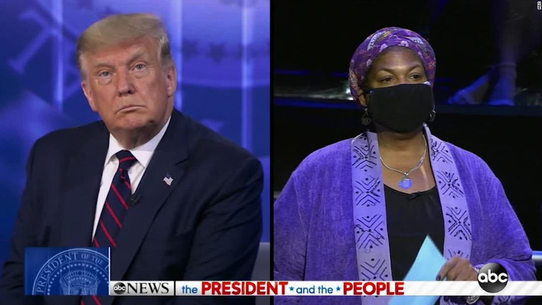 Voter To President Trump Let Me Finish Sir Cnn Video