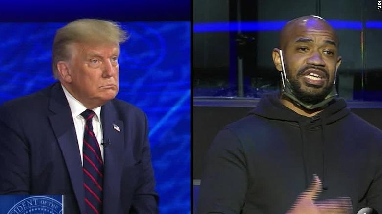 Black voter asks Trump if he's aware how 'tone-deaf' MAGA slogan is