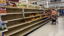 The shelves were emptied by the storm of people preparing in front of Sally in Alabama.
