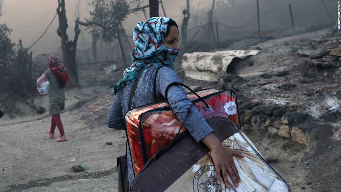 Germany to take in 1,500 migrants from Greece, after huge fire left thousands homeless
