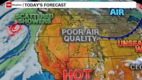 Better weather for the battle of the Pacific Northwest wildfires