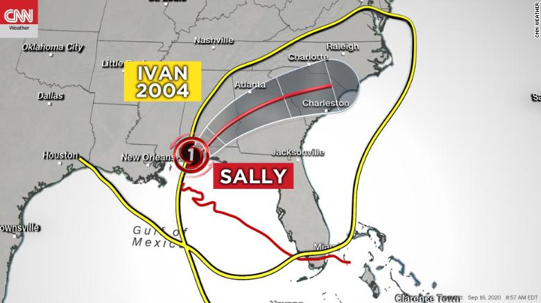 Hurricane Sally lands on the same spot as Alabama's last hurricane 16 years ago