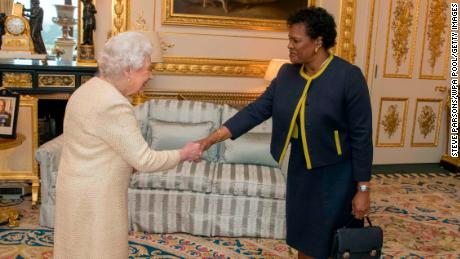 The Queen will receive the Governor-General of Barbados Sandra Mason during a private audience at Buckingham Palace in 2018.