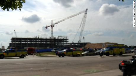 Authorities are investigating how two cranes collided in Austin on Wednesday.