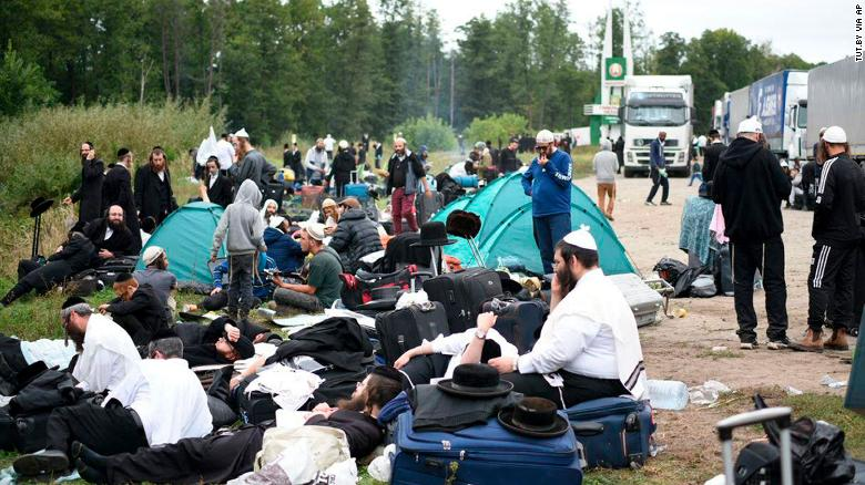 Thousands of pilgrims visit Kiev each September for Rosh Hashana, the Jewish new year, but Ukraine closed the checkpoint Wednesday to stop the spread of coronavirus.