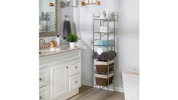 Honey-Can-Do 6-Tier Metal Tower Bathroom Shelf