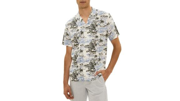 Sailing Print Camp Collar Shirt in Print