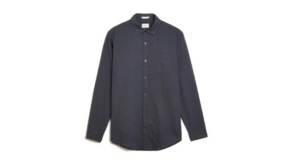 The Stanley Hemp Shirt in Navy